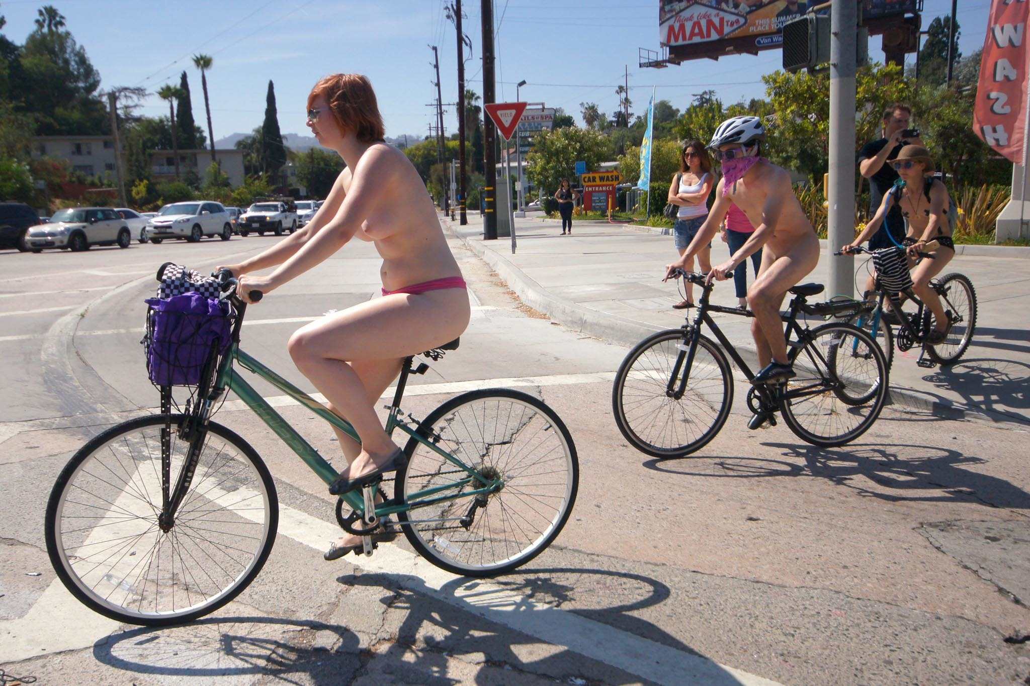 World Naked Bike Ride Los Angeles 2014 photos