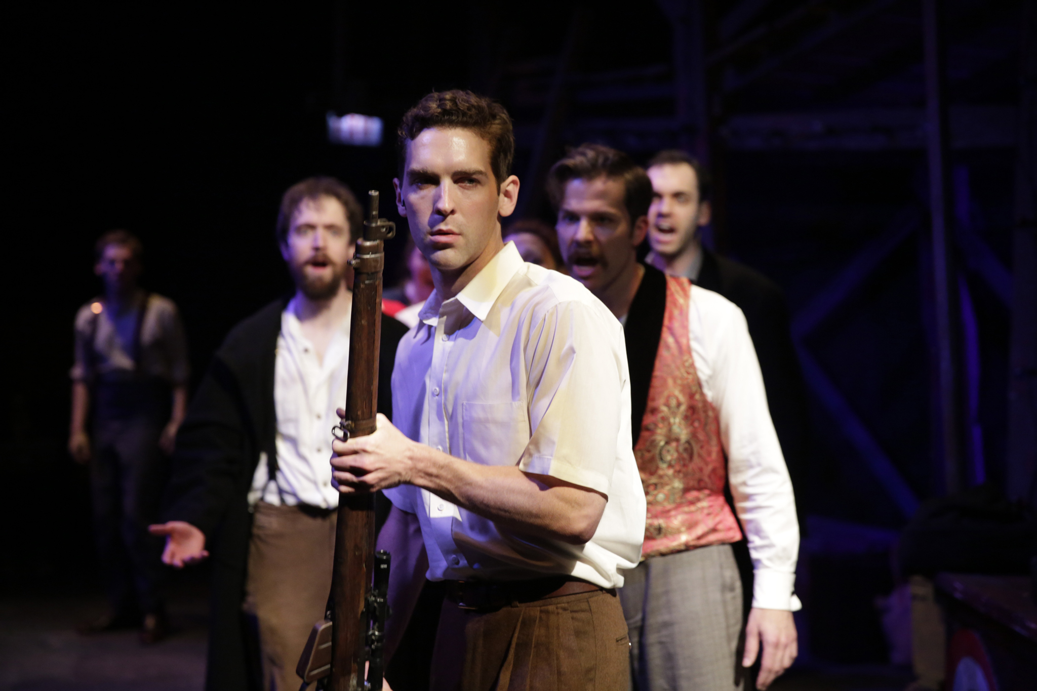 Nathan Gardner and company in Assassins at Kokandy Productions