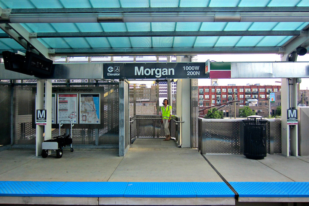 Morgan Green and Pink Line