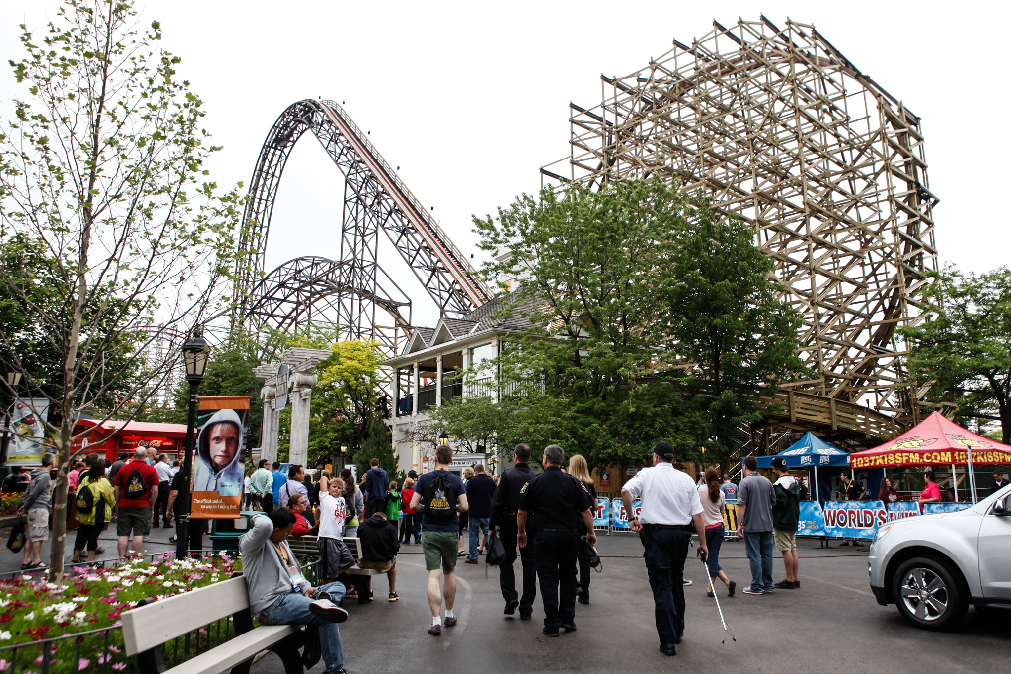 Goliath, the newest roller coaster at Six Flags Great America, opens to the public on June 19.