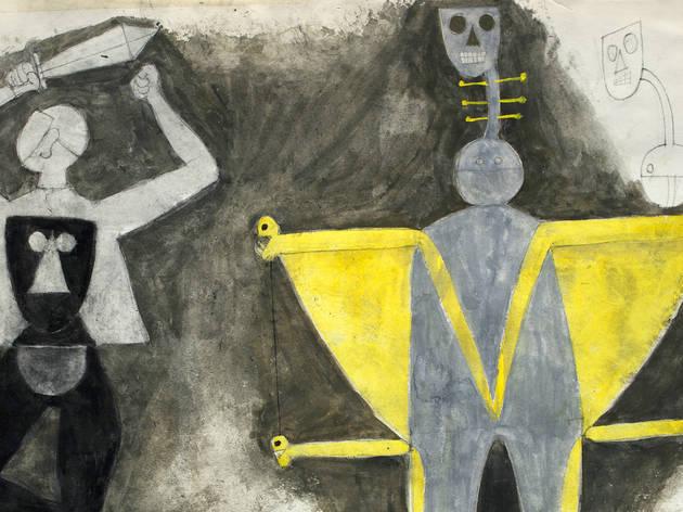 Muerte y Heraldo. Tamayo (Foto: Cortesía Museo Tamayo)