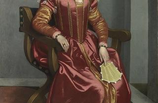 Giovanni Battista Moroni ('Portrait of a Lady, perhaps Contessa Lucia Albani Avogadro ('La Dama in Rosso')', c1556 60)