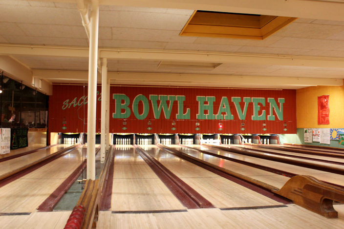 Go candlepin bowling at Sacco's Bowl Haven