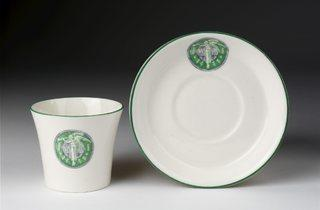 (Bone china with transfers printed in green, bearing the emblem of the Women's Social and Political Union (WSPU) Photo © Victoria and Albert Musem, London)