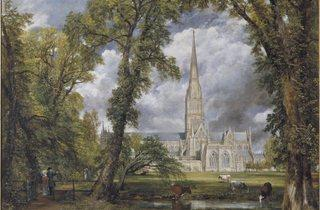 (John Constable, 'Salisbury Cathedral from the Bishop's Ground', 1823 © Victoria and Albert Museum, London )
