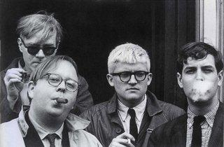 Dennis Hopper ('Andy Warhol, Henry Geldzahler, David Hockney and Jeff Goodman', 1963)