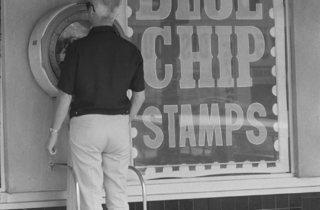 Dennis Hopper ('Untitled (Blue Chip Stamps)', 1961-67)