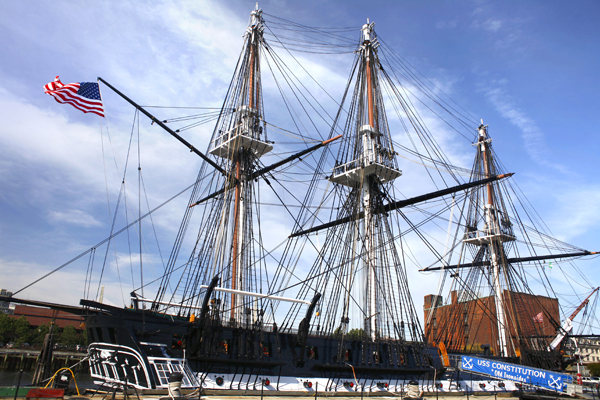 Turning of the USS Constitution