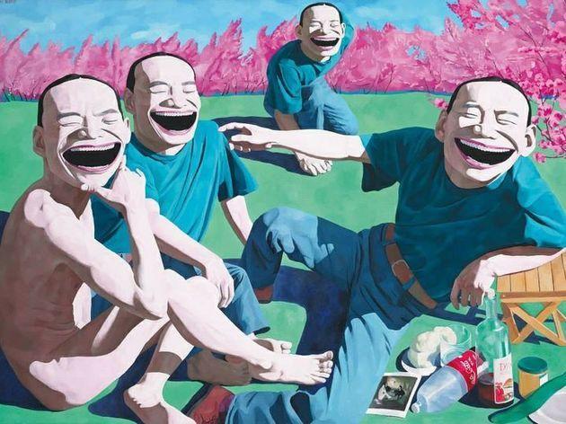 © Yue Minjun / Le déjeuner sur l'herbe