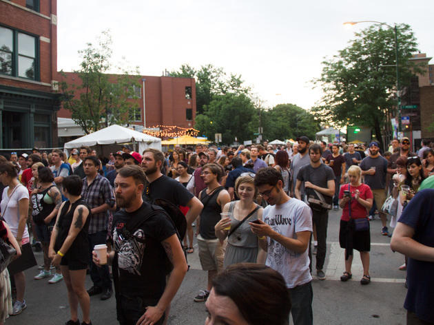 Green Music Festival brought a bike-powered stage and eco-friendly vendors to Wicker Park.
