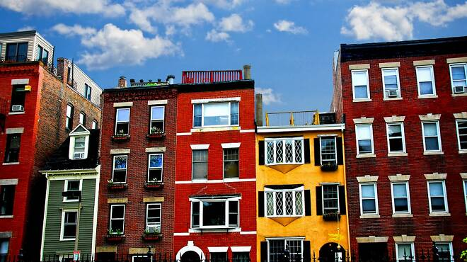 The North End: Colorful houses