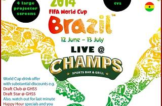 World Cup at Champs Bar & Grill Accra, Ghana