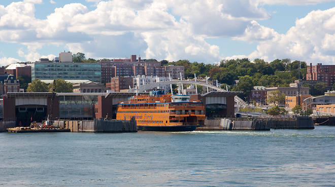 Staten Island Ferry Docked in St. George