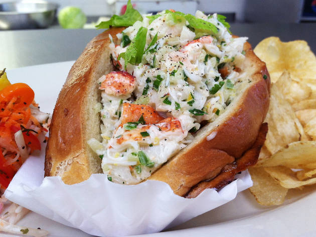 Lobster roll at Wellfleet