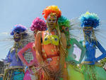 New Yorkers revel at the 2014 Mermaid Parade on June 21, 2014.