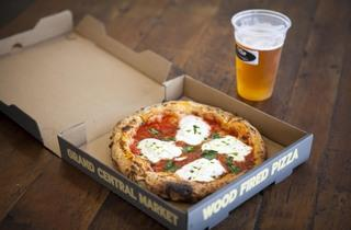 Margherita Plus pizza from Olio Pizzeria at Grand Central Market