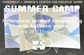 Letterpress printed bookmaking with Bullhorn Press