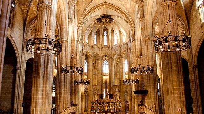 Interior de la catedral de Santa Maria