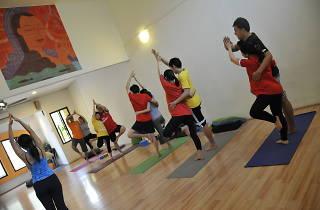 Couples prenatal yoga Surya Yoga