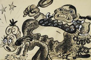 Mucama sometiendo a su patrona (Foto: Cortesía Museo del Estanquillo)