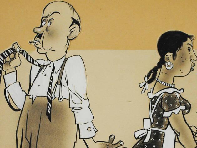 Señor y mucama (Foto: Cortesía Museo del Estanquillo)
