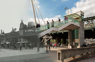 Hungerford Bridge (© Museum of London)