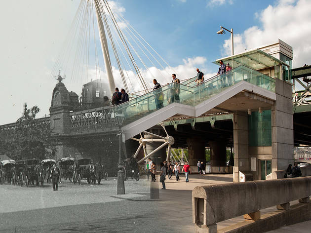 Hungerford Bridge (© Museum of London)