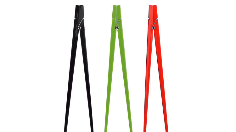 Green clothespin chopsticks (Photograph: Courtesy CB2)