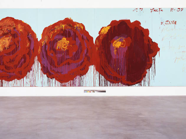 The Rose (IV) (Foto: ©Cy Twombly Foundation. Cortesía Fundación Jumex Arte Contemporáneo. )
