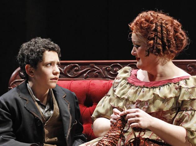 Jonah Rawitz and Liz McCartney in Sweeney Todd at Drury Lane Theatre Oakbrook Terrace