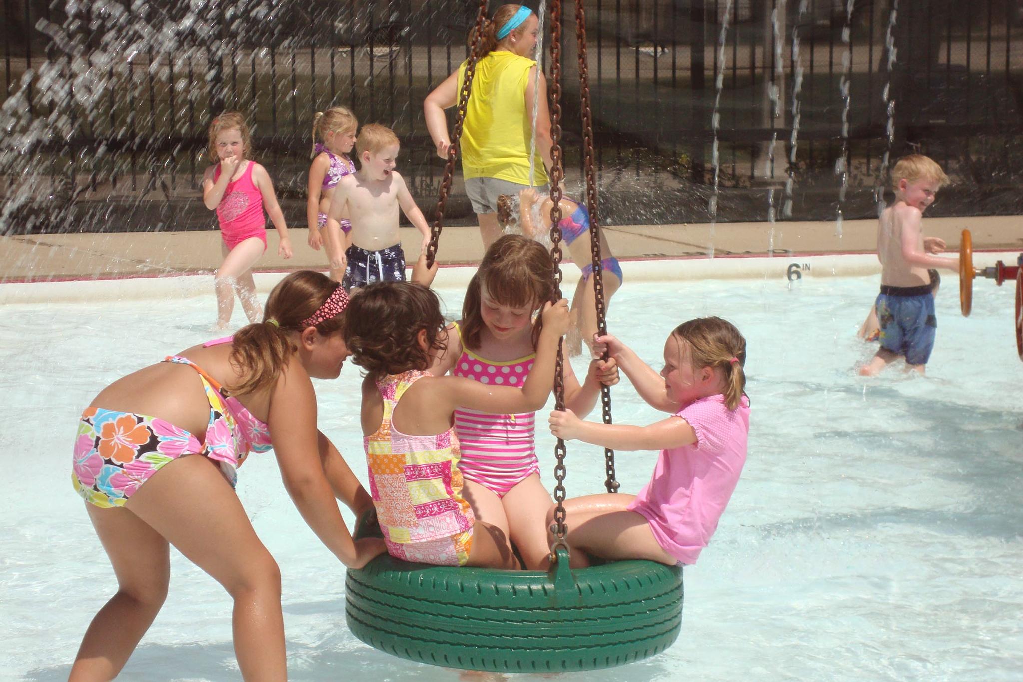 Portage Park water playground