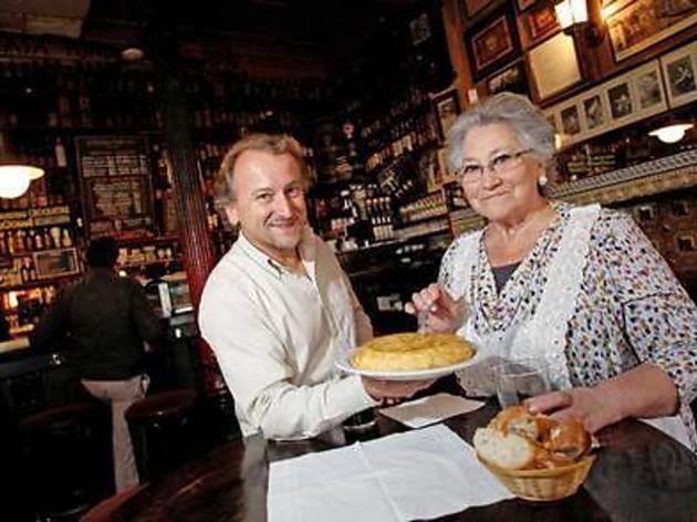 Pincho de tortilla de La Ardosa