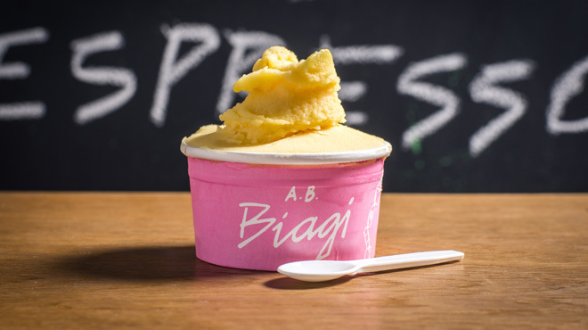 Passion fruit sorbet bowl at A.B. Biagi