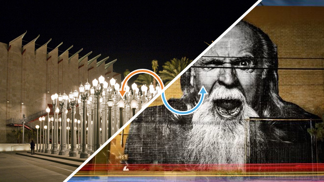 Public art: Urban Light / Murals