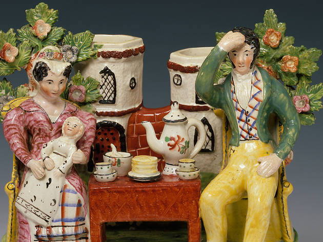 (Staffordshire 'Tea Total' piece in Ceramics Hall © Victoria and Albert Museum, London)