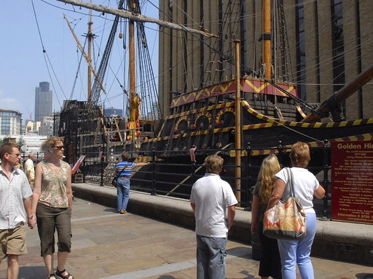 Scrub the deck for Sir Francis Drake on the Golden Hinde