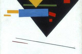 Kazimir Malevich ('Suprematist Painting (with Black Trapezium and Red Square)', 1915 )