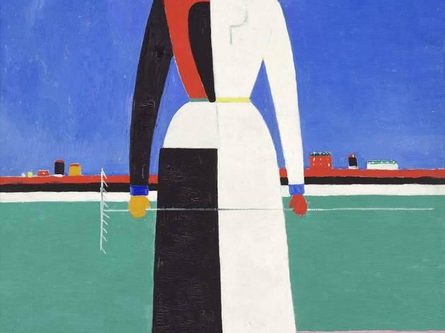 Kazimir Malevich ('Woman with Rake', 1930-32   )