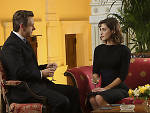 Michael Sheen and Lizzy Caplan in <em>Masters of Sex</em>
