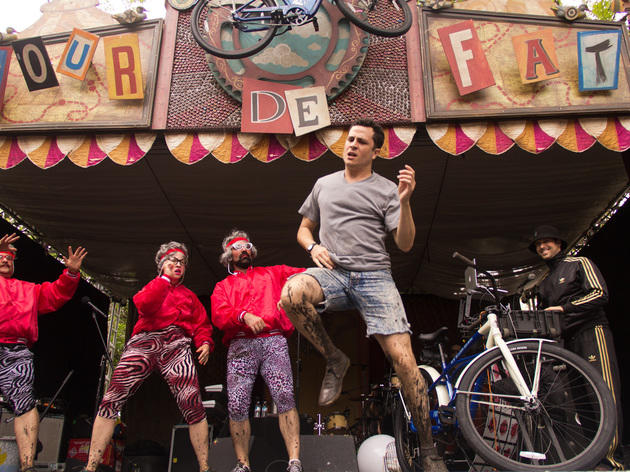Bikes, beer and circus performers take over Palmer Square during Tour De Fat, July 12th 2014.