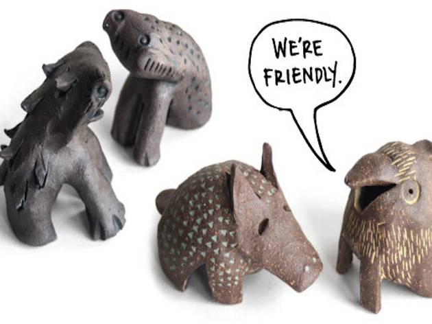 Ceramic creatures by Knotwork LA