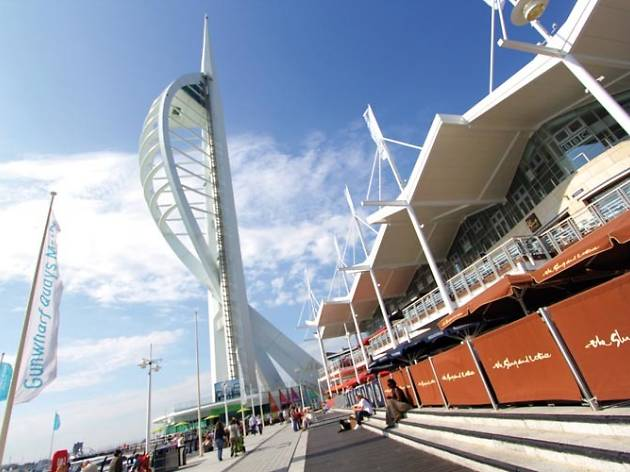View of the Spinnaker Tower from Gunwharf Quays in Portsmouth