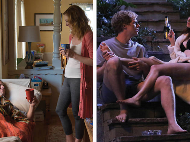 Nat Faxon and Judy Greer star in <em>Married</em> and Chris Geere and Aya Cash star in <em>You're the Worst</em>