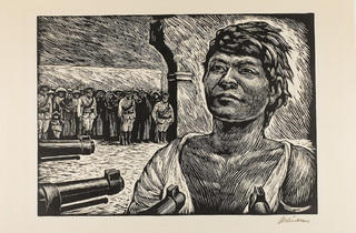 "Leopoldo Méndez. ""Firing Squad"", 1950."