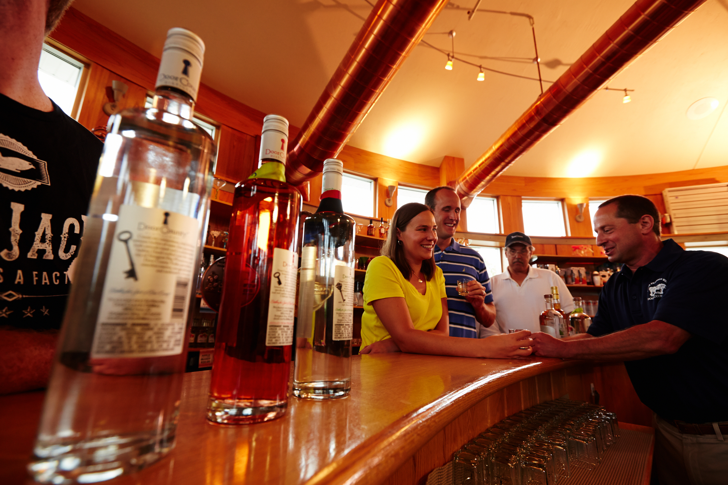 Door County Distillery has a tasting room.