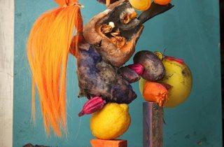 Lorenzo Vitturi ('Hairy orange, yellow balloons and rotten camote #2 from the series Dalston Anatomy', 2013)