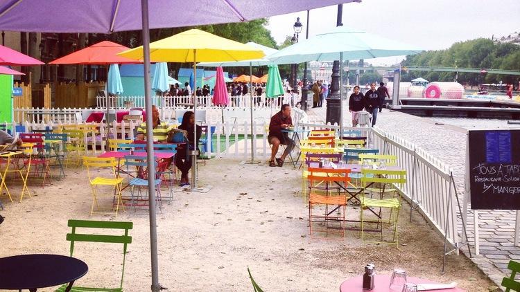 Paris Plages, côté buvette