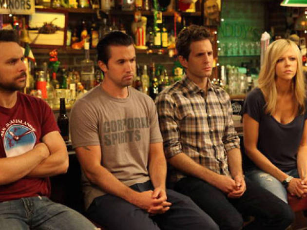 IT'S ALWAYS SUNNY IN PHILADELPHIA The Gang Recycles Their Trash - Episode 1 (Airs Thursday, October 18, 10:00 pm e/p) -- Pictured: (L-R) Charlie Day as Charlie Kelly, Rob McElhenney as Mac, Glenn Howerton as Dennis Reynolds, Kaitlin Olson as Dee Reynolds