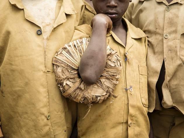 Jillian Edelstein (School child and wreath, Muhoza village, Musanze district, Rwanda)