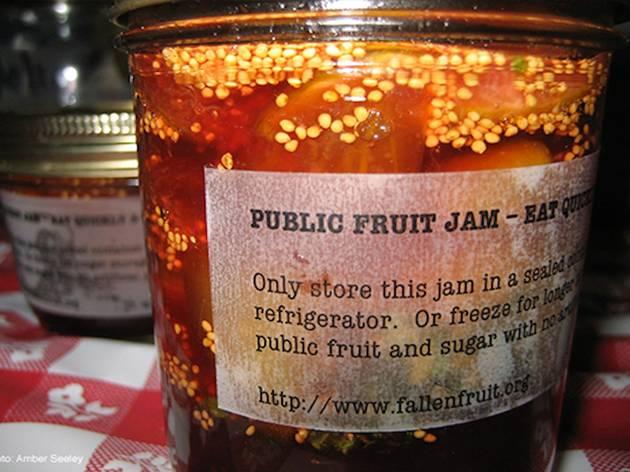 Public fruit jam with fallen fruit